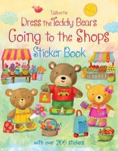 幼儿童英语贴纸书 usborne sticker book : Dress the Teddy Bears Going to the Shops Sticker Book【现货】