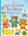 幼儿童英语贴纸书 usborne sticker book : Dress the Teddy Bears For School Sticker Book【现货】