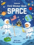 幼儿童英语贴纸书 usborne sticker book : First Sticker Book Space【现货】