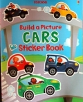 幼儿童英语贴纸书 usborne sticker book : Built a Picture Cars Sticker Book【现货】