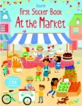 幼儿童英语贴纸书 usborne sticker book : First Sticker Book Market【现货】